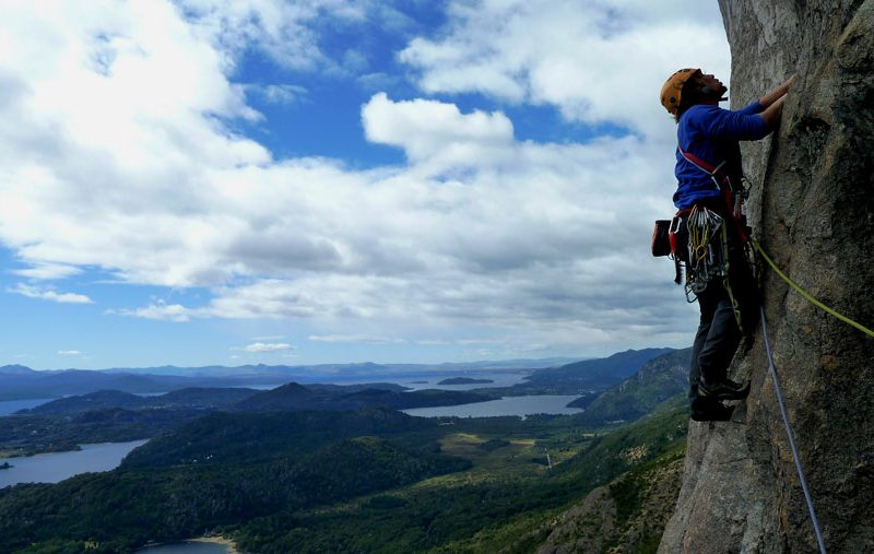 Traditional climbing in Patagonia