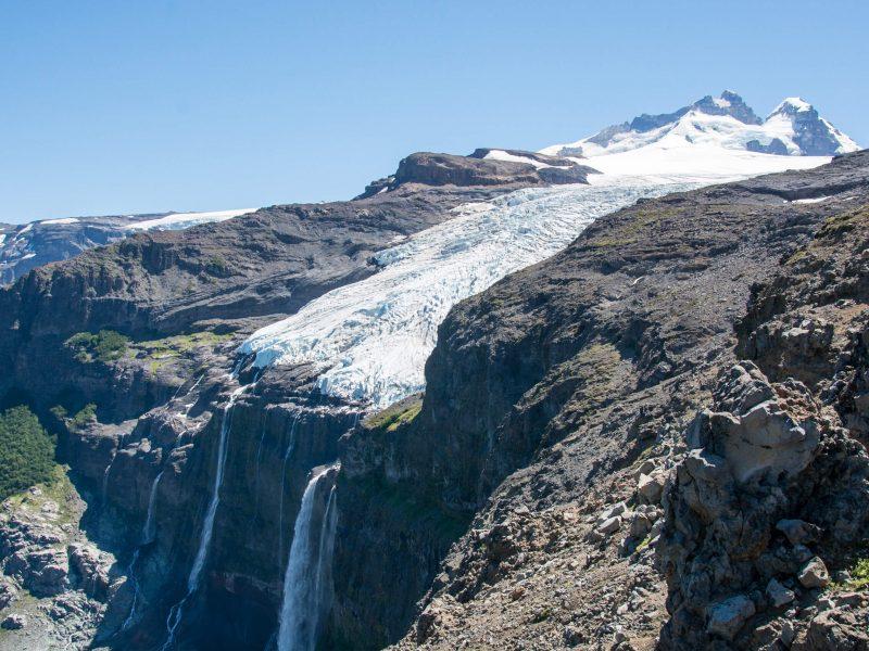 Cerro Tronador glacier traverse