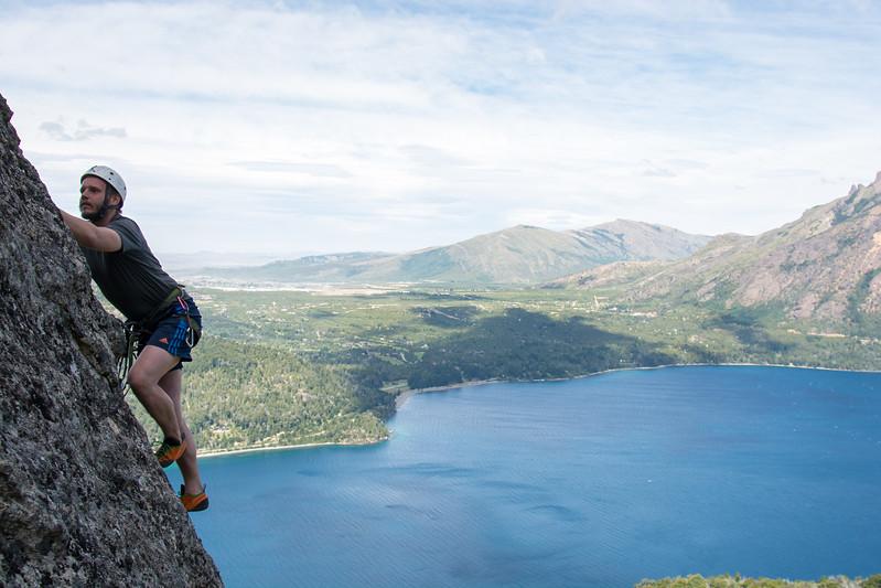 Escalada deportiva en la Patagonia